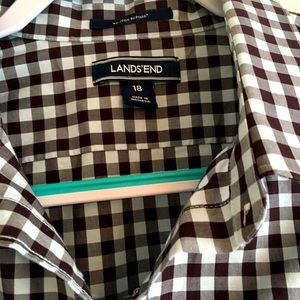 Lovely brown and light blue plaid